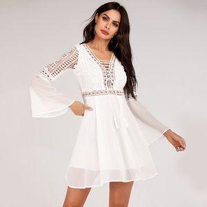 Beautiful NWT delicate boho white dress size S
